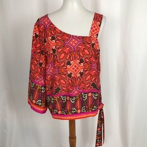 Chico's One Sleeve Blouse